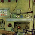A 1920's Idea Of A Colonial Kitchen by Harry Richardson