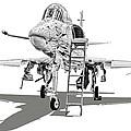 Ta-4j Skyhawk by Dale Jackson