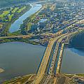 Fort Mcmurray From The Sky by Alanna DPhoto