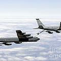 A B-52h Stratofortress Refuels by Erik Roelofs