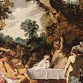 A Bacchanalian Feast, C.1617 by Johann Liss or Lis or von Lys