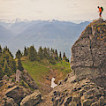 A Backpacker Balances On The Blocky by Christopher Kimmel