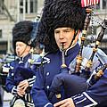 A Bagpiper Marching In The 2009 New York St. Patrick Day Parade by James Connor