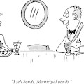 A Bald Man At A Bar In A Tux Speaking by Mark Thompson