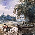 A Barge On The Stour by John Constable