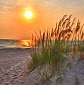 A Beach Sunset by Brian Mollenkopf