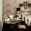 A Bedroom With Matching Wallpaper by Haanel Cassidy