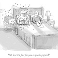 A Beekeeper Surrounded By Bees Is Sitting In Bed by Paul Noth
