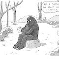 A Big Foot Type Creature Reads A Valentine Card by Zachary Kanin