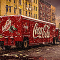 A Big Red Truck In The Barrio by Chris Lord