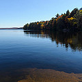 A Blue Autumn Afternoon - Algonquin Lake Tranquility by Georgia Mizuleva