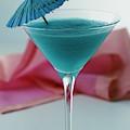 A Blue Hawaiian Cocktail by Romulo Yanes
