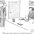 A Boss Sits Behind A Desk Talking To An by Leo Cullum