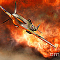 A British Supermarine Spitfire Bursting by Mark Stevenson
