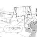 A Businessman Walks Away From A Playground by Jack Ziegler