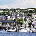 A Busy Harbour And Waterfrontkinsale by Peter Zoeller