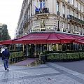 A Cafe On The Champs Elysees In Paris France by Richard Rosenshein