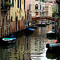 Calm Canal In Venice  by Jennie Breeze