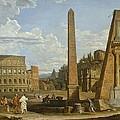 A Capriccio View Of Roman Ruins, 1737 by Giovanni Paolo Pannini or Panini