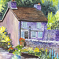 A Castleton Cottage In Uk by Carol Wisniewski