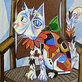 A Cat For Picasso_ Chat Et Souris by George I Perez