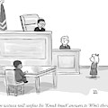 A Child Judge Says To A Child Witness In A Court by Paul Noth