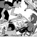A Child Responds To Her Schoolteacher Who by William Haefeli