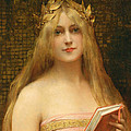A Classical Beauty by Leon Francois Comerre