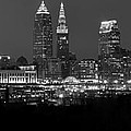 A Cleveland Black And White Night by Frozen in Time Fine Art Photography