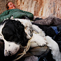 A Climber And Her Dog Lay by Rich Wheater
