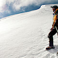 A Climber On The Glacier Of Cotopaxi by Caroline Bennett