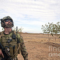A Coalition Force Member Looks For Air by Stocktrek Images