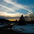 A Cold Sunset by Wayne Stabnaw