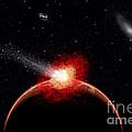 A Comet Hitting An Alien Planet by Mark Stevenson