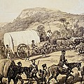 A Convoy Of Wagons by English School