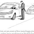 A Cop Pulls Over A Minivan by Julia Suits