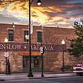 A Corner In Winslow Arizona by Richard Herman