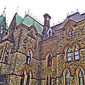 A Corner Of Parliament Building In Ottawa-on by Ruth Hager