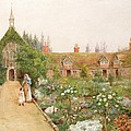 A Country Garden At Bray, Berkshire by Thomas Nicholson Tyndale