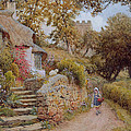 A Country Lane by Arthur Claude Strachan