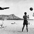 A Couple On Waikiki Beach by Underwood Archives
