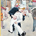 A Couple Reenacts A Famous World War II Kiss by Barry Blitt