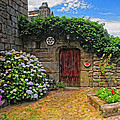 A Courtyard In Brittany France by Dave Mills