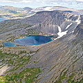 A Crater Lake From The Seaplane In Katmai National Preserve-alaska  by Ruth Hager