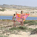 A Day At The Beach by Art Block Collections