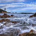 Low Tide In Corona Del Mar by Eddie Yerkish