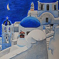 A Day In Santorini by Christine Rivers