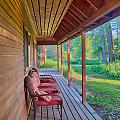 A Deck By The Methow River At Cottonwood Cottage by Omaste Witkowski