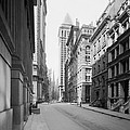 A Deserted Wall Street by Underwood Archives