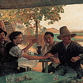 A Discussion In Politics by Emile Friant